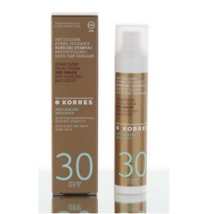 KORRES SOLAIRE spf30 RED GRAPE CREAM
